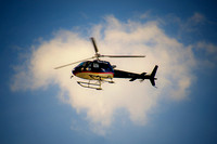 "Helicopter, ""blue sky"", clouds, contrast, flying, sky"