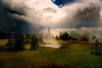 Old Faithful, geyser, Yellowstone, park, nature, steam, water, boiling, wildlife, scenic, landscape, colors, details, dawn, dusk, storm, rainbow, waterfall, river, rocks, forest, trees, stones, mud, b
