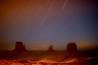 "night sky, panorama, landscape, dunes, desert, vegetation, details, bertazzoni, sky, scenic, colors, clouds, rocks, ""monument valley"", night, start, ""shooting star"""