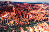 """Bryce Canyon"", details, scenic, Utah, landscape, rocks, colors, USA, parks, nature, sky, clouds,"