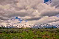 """Grand Teton National park"", USA, Wyoming, nature, landscape, river, clouds, scenic, trees, flowers, wildlife, colors, moon, sun, reflections, mirror, sunrise, sunset, dusk, dawn, bears, bisons, birds"